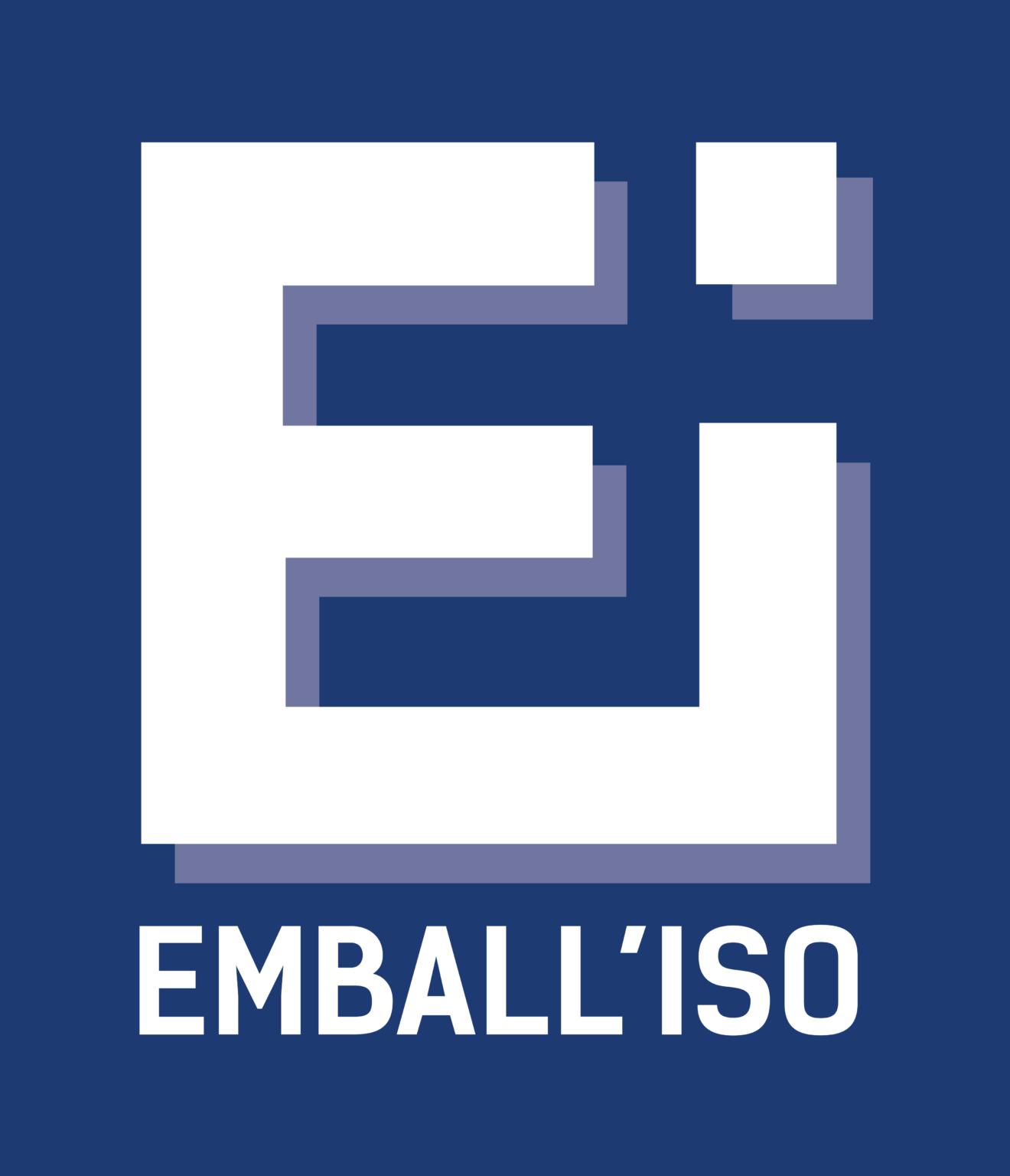 logo_fond_bleu Emball'Iso