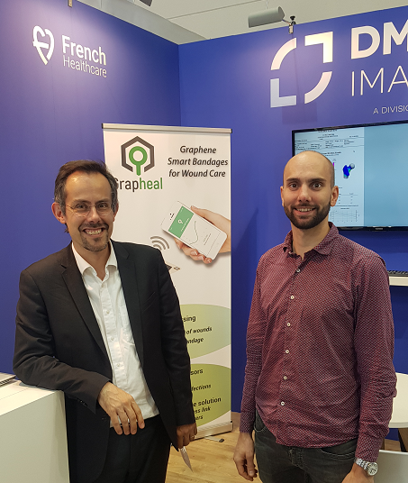 Grapheal sur stand DMS Imaging - Vincent Bouchiat et Antoine Bourrier