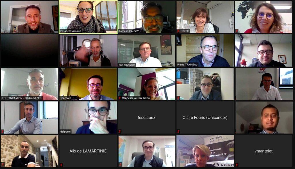 19 entreprises adhérentes de French Healthcare Association ont participé à cetet séance de pitchs au CLAPS