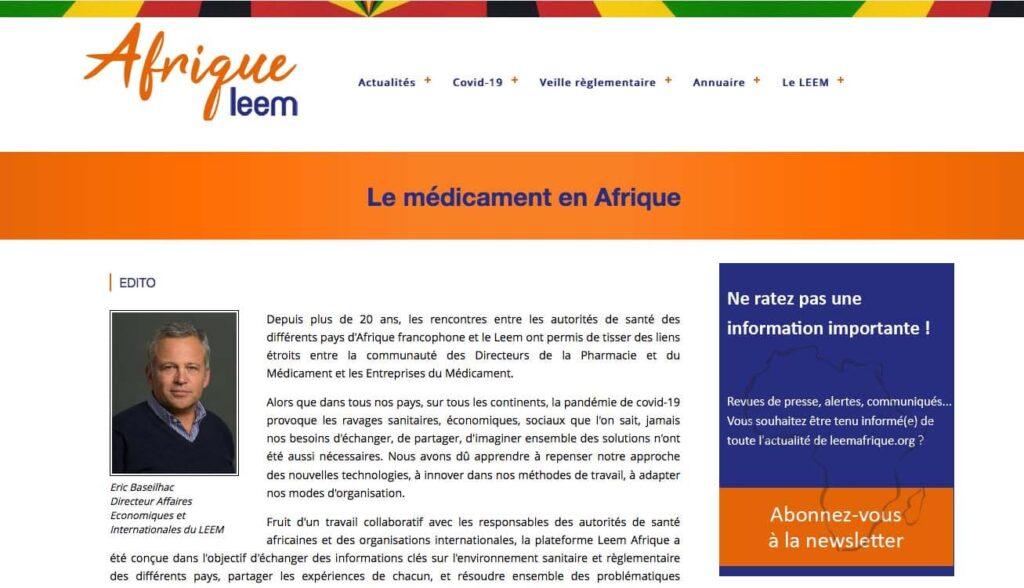 Portail LEEM Afrique