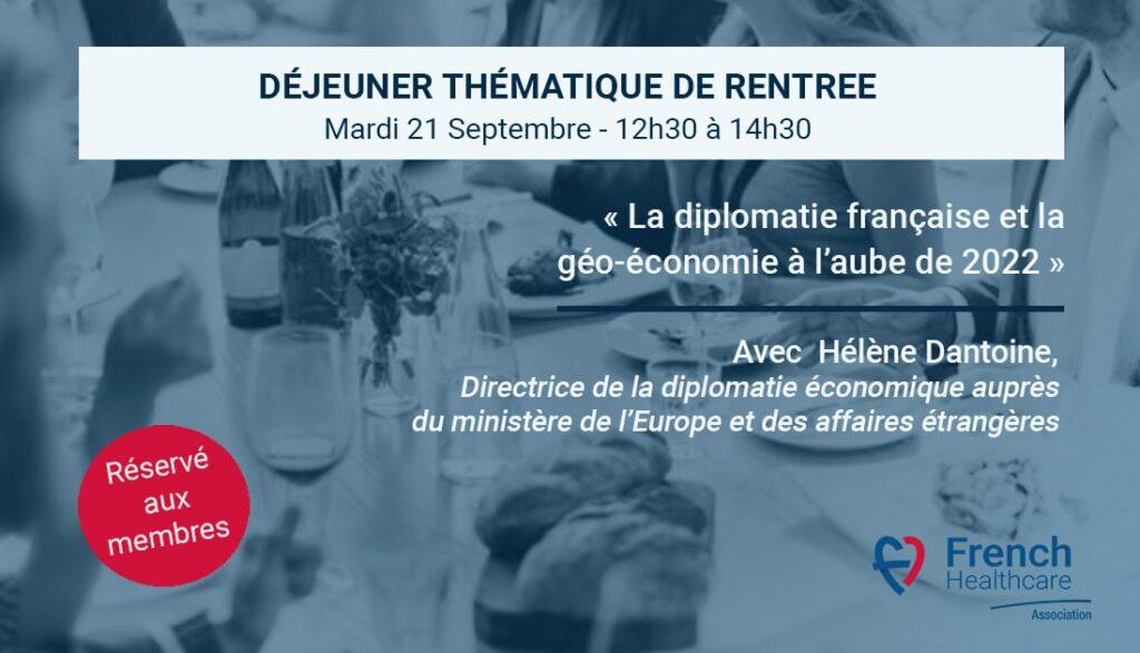 Déjeuner thématique French Healthcare Association du 21.09.2021