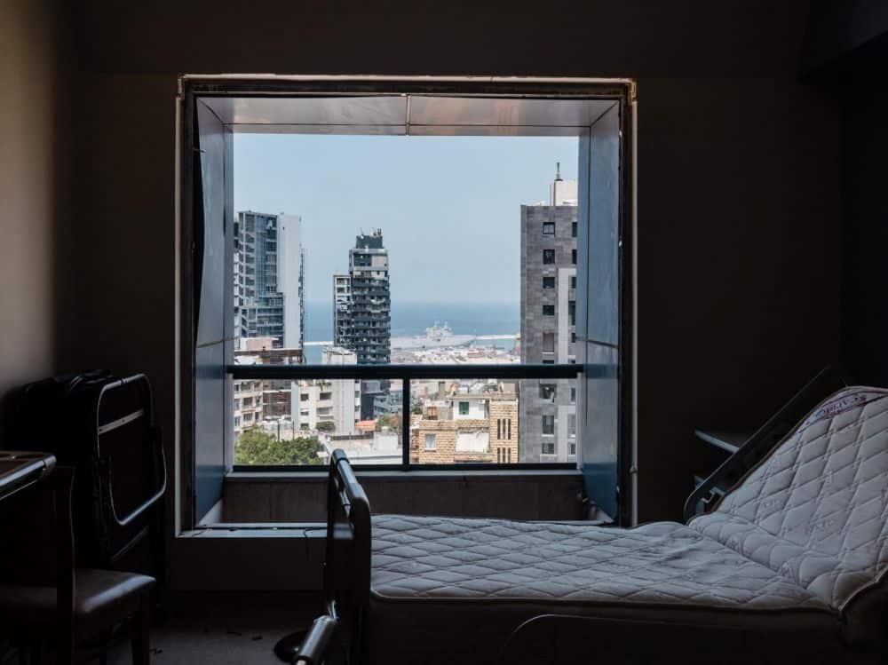 Une chambre de l'hôpital Saint-Georges, le 14 août 2020, dix jours après la double explosion qui a ravagé Beyrouth. Karine Pierre / Hans Lucas / Hans Lucas via AFP